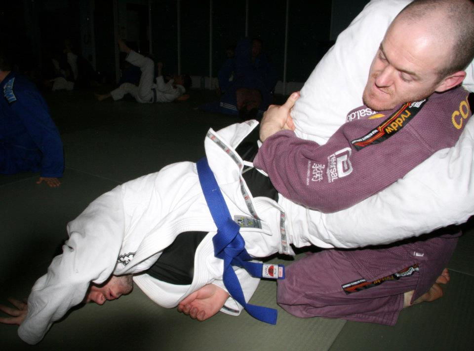 Just for fun! Drilling technique a few years back. If you're not familiar with BJJ this may look weird!