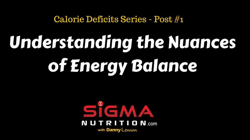 nuances of energy balance
