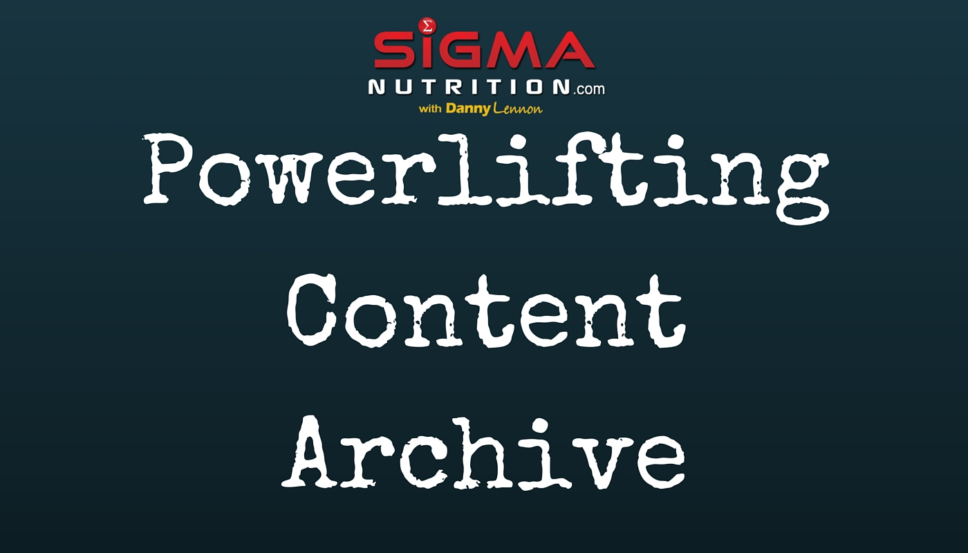 powerlifting resources nutrition