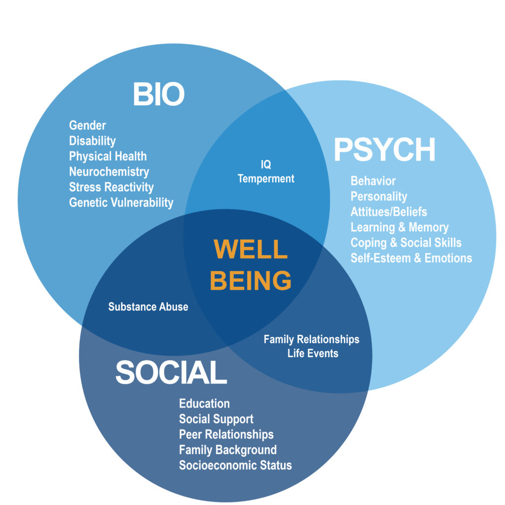 biopsychosocial Biopsychosocial model a theoretical framework that posits that biological, psychological and social factors all play a significant role in human disease or illness and health, rather than biology alone.